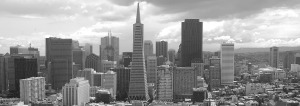 San Francisco skyline in black and white - Design Accounting Solutions