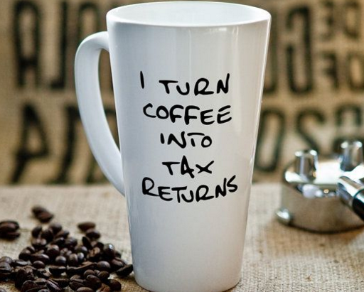 Coffee into tax returns